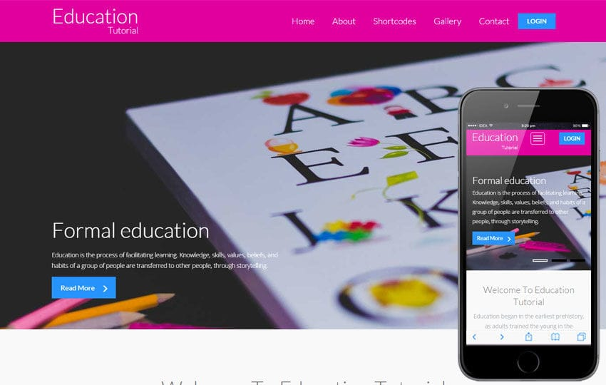 Education Tutorial a Educational Category Flat Bootstrap Responsive web template