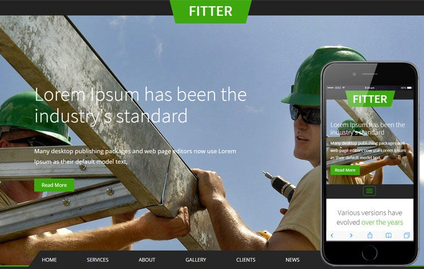 Fitter a Industrial Category Flat Bootstrap Responsive Web Template