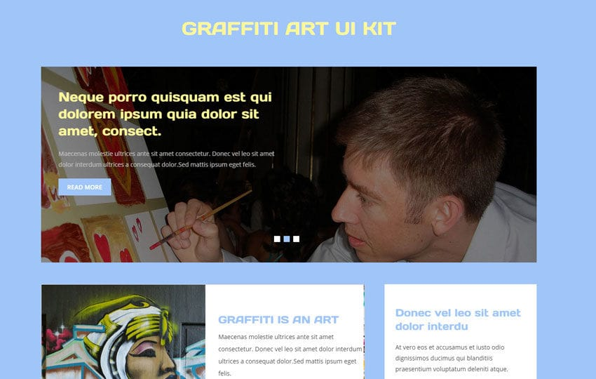 Graffiti Art UI Kit a Flat Bootstrap Responsive Web Template