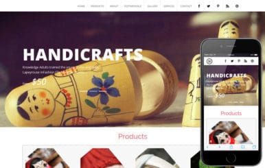 Handicraft a Industrial Category Flat Bootstrap Responsive Web Template