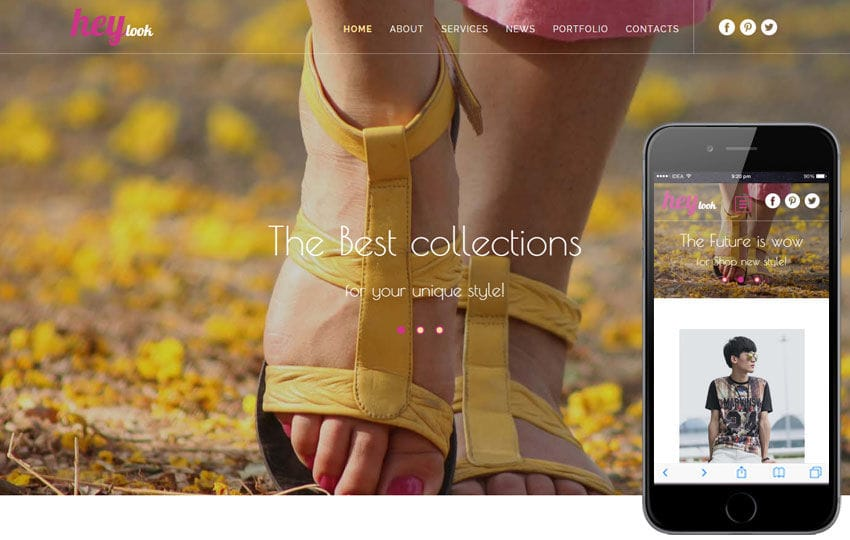 Hey Look a Fashion Category Flat Bootstrap Responsive Web Template
