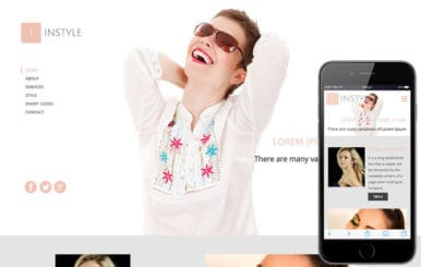 In Style a Fashion Category Flat Bootstrap Responsive Web Template
