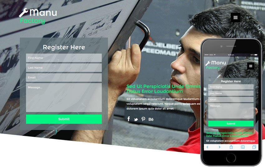 Manu Factory a Industrial Category Flat Bootstrap Responsive Web Template
