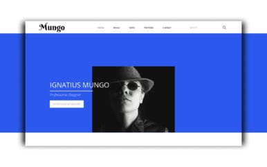 Mungo a Resume Portfolio Flat Bootstrap Responsive Web Template