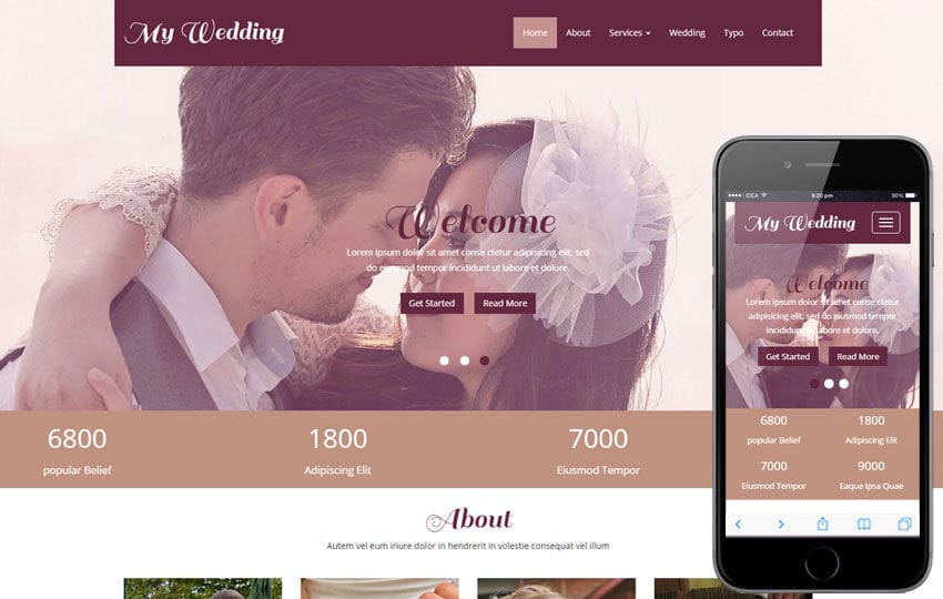My Wedding a Wedding Planner Flat Bootstrap Responsive Web Template