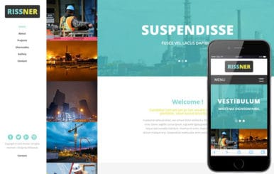 Rissner a Industrial Category Flat Bootstrap Responsive Web Template