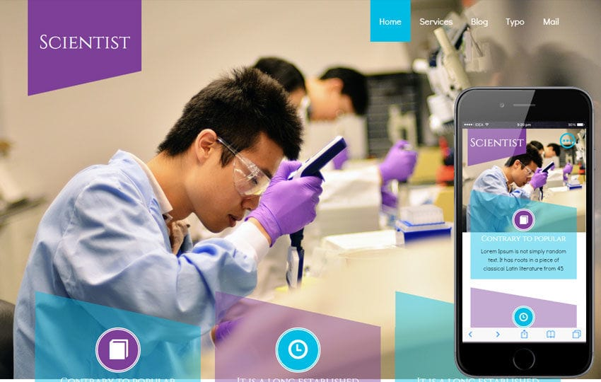 Scientist a Medical Category Flat Bootstrap Responsive Web Template