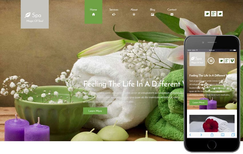Spa a Beauty and Spa Category Flat Bootstrap Responsive Web Template