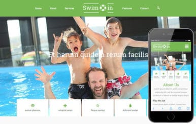 Swim In a Sports Category Flat Bootstrap Responsive Web Template