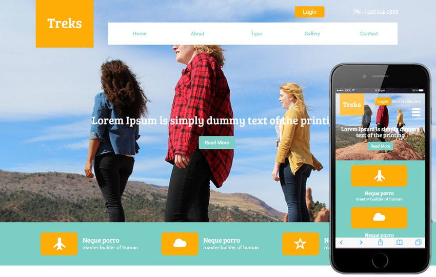 Treks a Travel Guide Flat Bootstrap Responsive web template