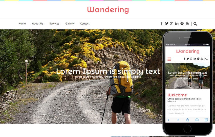 Wandering a Travel Guide Flat Bootstrap Responsive web template