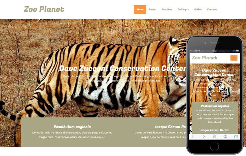 Zoo Planet a Animals Category Flat Bootstrap Responsive Web Template