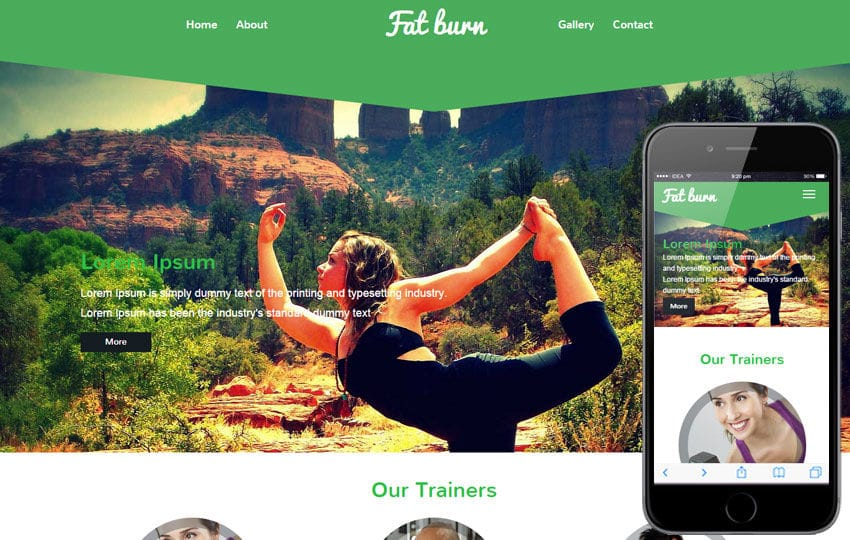 Fat Burn a Fitness Category Flat Bootstrap Responsive Web Template