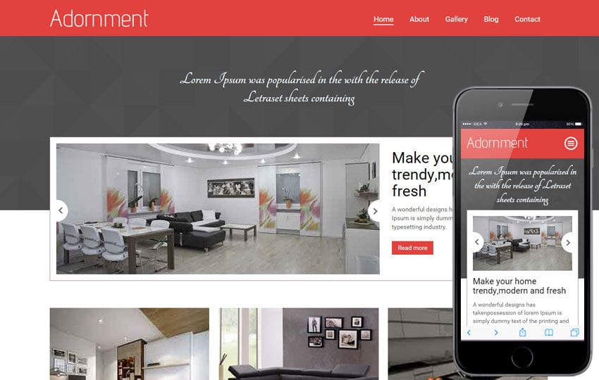 Adornment a Interior Architects Multipurpose Flat Bootstrap Responsive Web Template