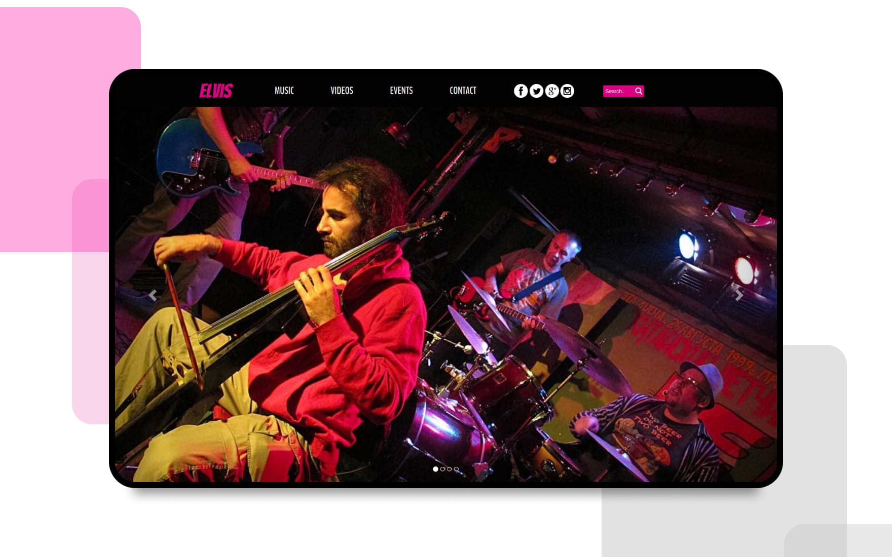 Elvis a Entertainment Category Flat Bootstrap Responsive web template