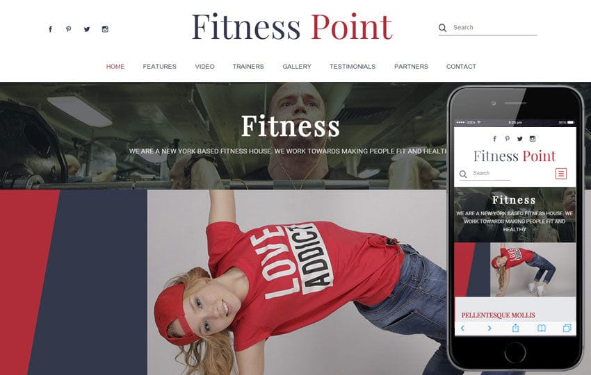Fitness Point a Sports Category Flat Bootstrap Responsive Web Template