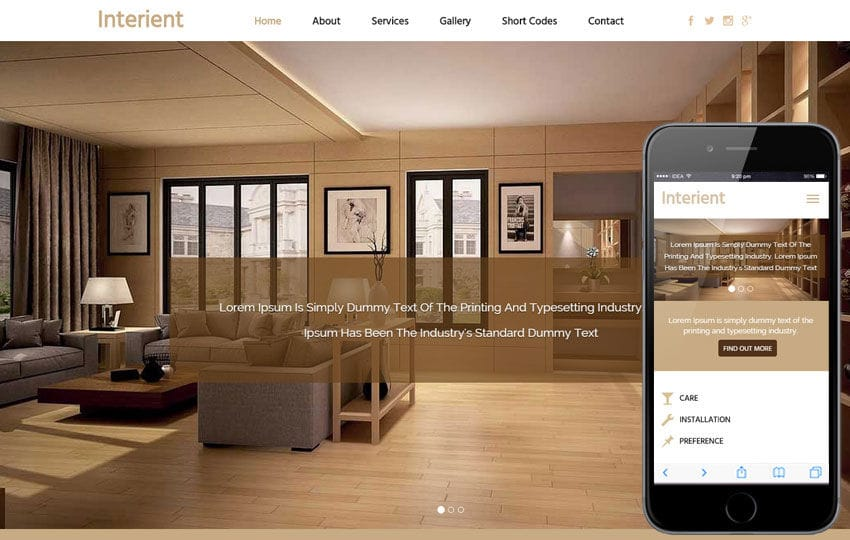 Interient a Interior Architects Flat Bootstrap Responsive Web Template
