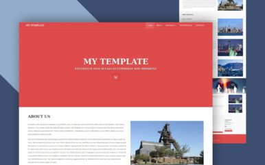 my template website template