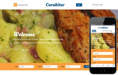Curabitur a Hotel Category Flat Bootstrap Responsive Web Template