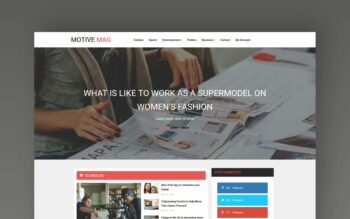 Motive Mag website template