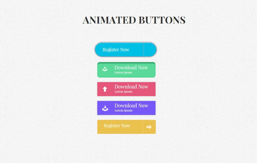 Flat Animated Buttons Responsive Widget Template