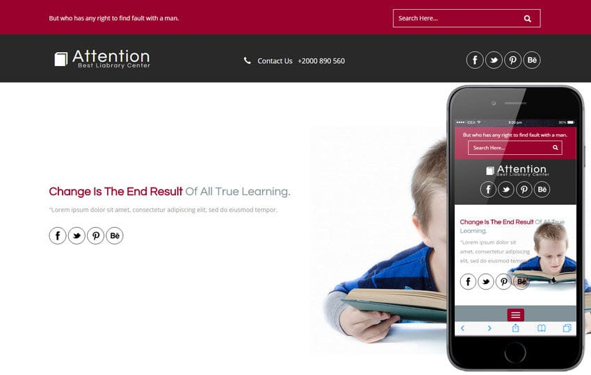 Attention a Educational Category Flat Bootstrap Responsive web template