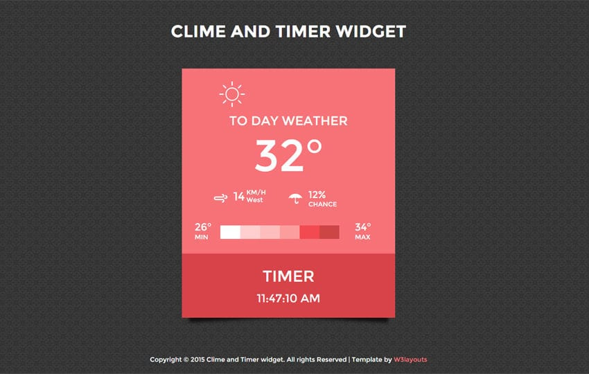 Clime and Timer Weather Responsive Widget Template