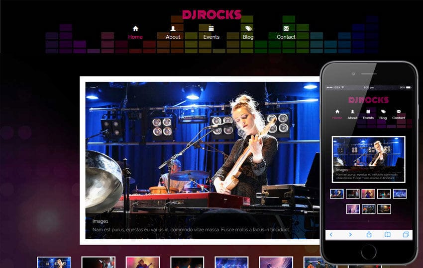 Dj Rocks a Entertainment Category Flat Bootstrap Responsive Web Template