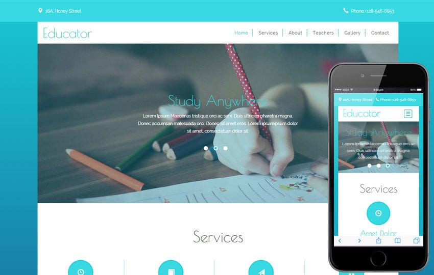 Educator a Educational Category Flat Bootstrap Responsive web template