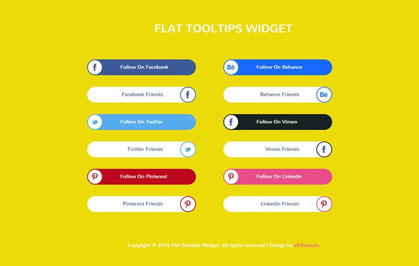 Flat Tool Tips Responsive Widget Template