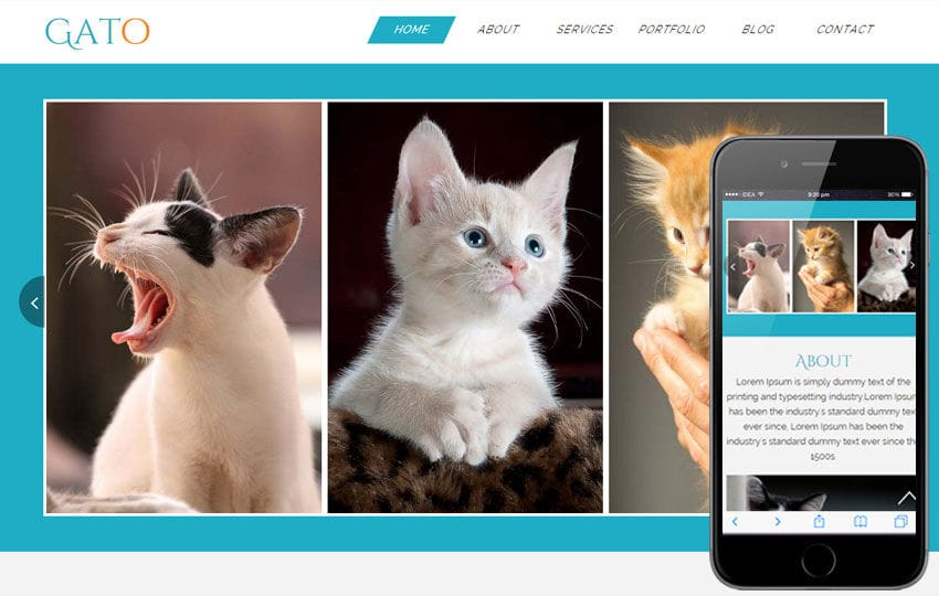 Gato a Animal Category Flat Bootstrap Responsive Web Template