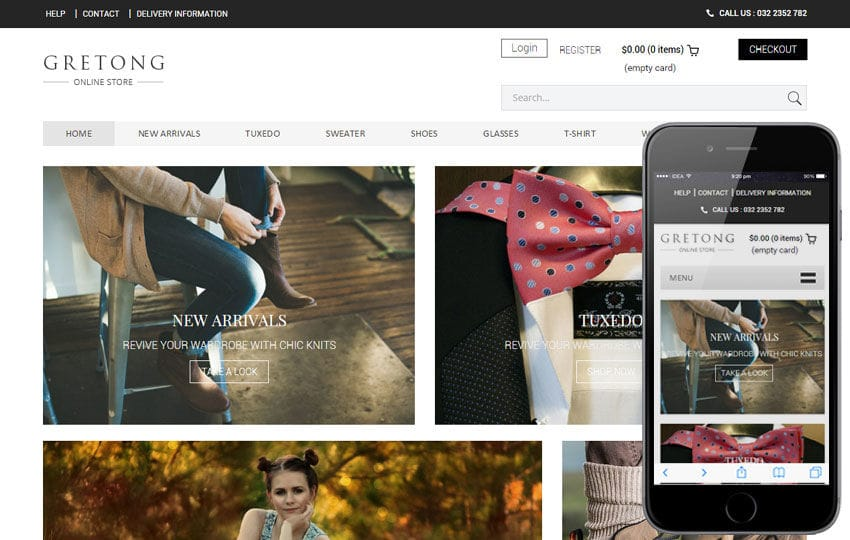 Gretong a Flat Ecommerce Bootstrap Responsive Web Template