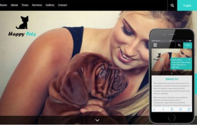 Happy Pets a Animal Category Flat Bootstrap Responsive Web Template