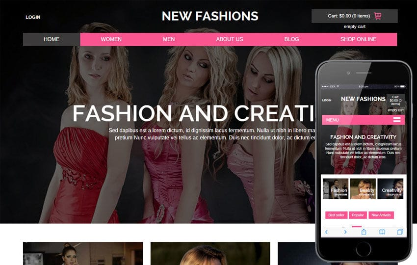 New Fashions a Flat Ecommerce Bootstrap Responsive Web Template