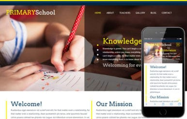 Primary School a Educational Category Flat Responsive web template