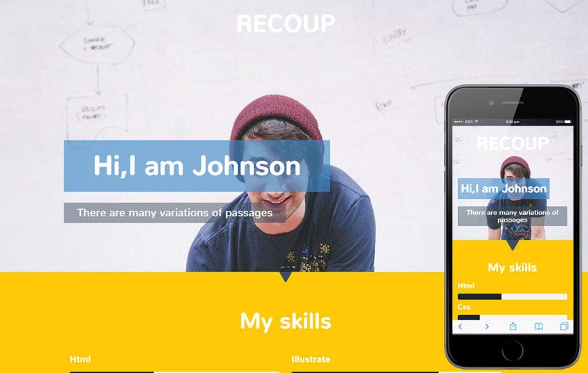 Recoup a Personal Portfolio Flat Bootstrap Responsive Web Template