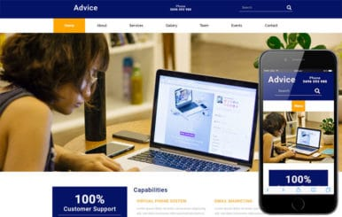 Advice a Corporate Business Flat Bootstrap Responsive Web Template