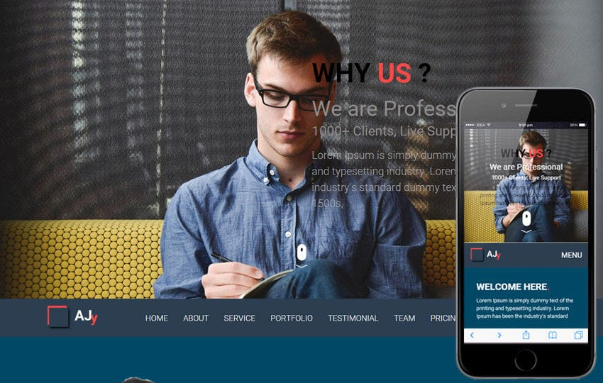 Ajy a Corporate Business Flat Responsive Web Template