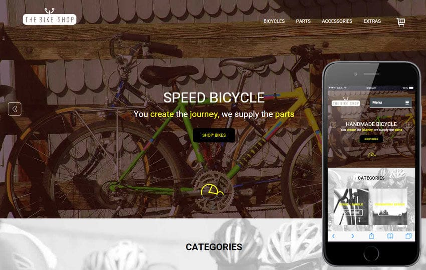 Bike Shop a Flat Ecommerce Bootstrap Responsive Web Template