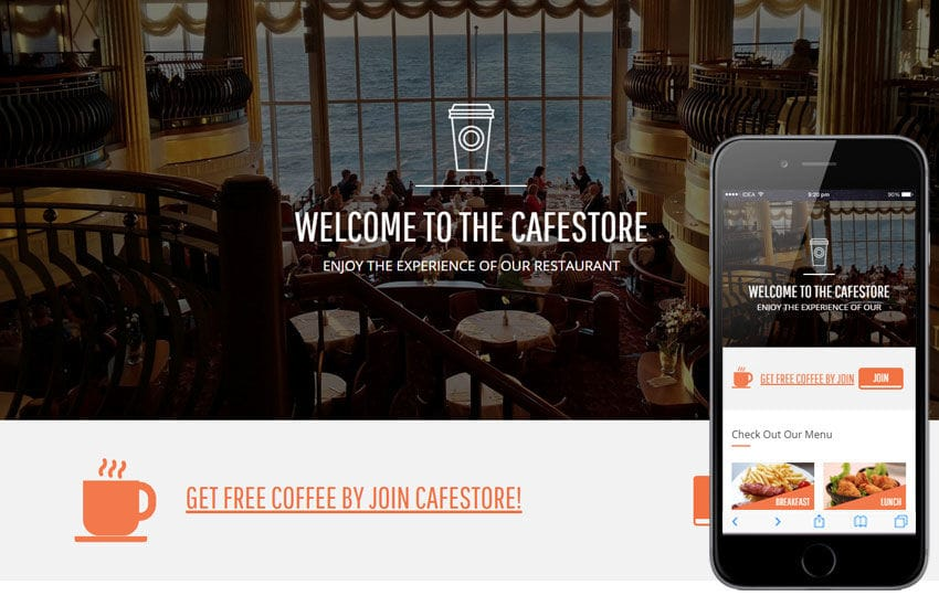 Cafe Store a Hotel Category Flat Bootstrap Responsive Web Template