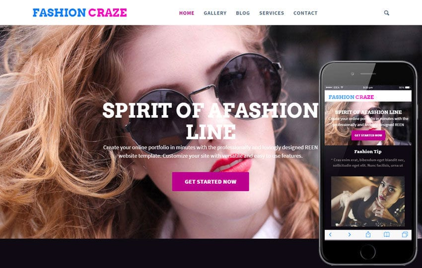 Fashion Craze a Fashion Category Flat Bootstrap Responsive Web Template