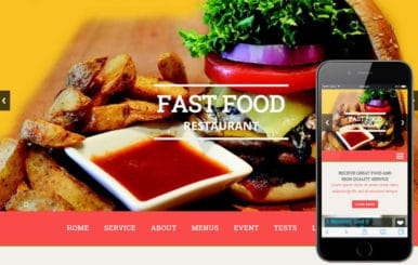Fast Food a Hotel Category Flat Bootstrap Responsive Web Template