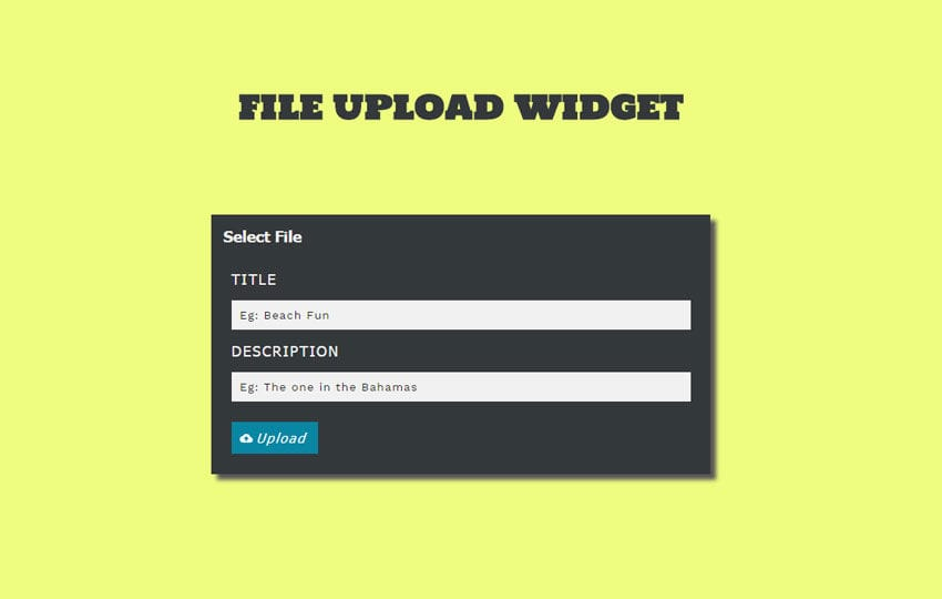 File Upload Widget Responsive Template