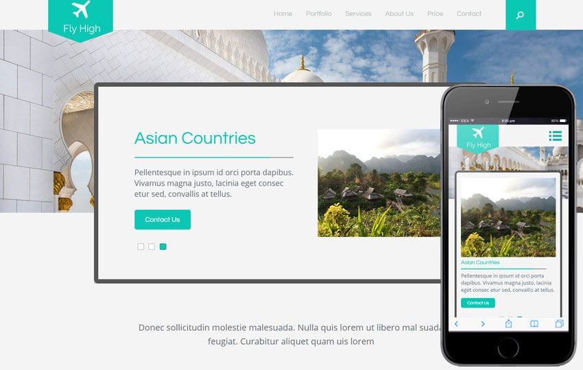 Fly High a Travel Guide Flat Bootstrap Responsive web template