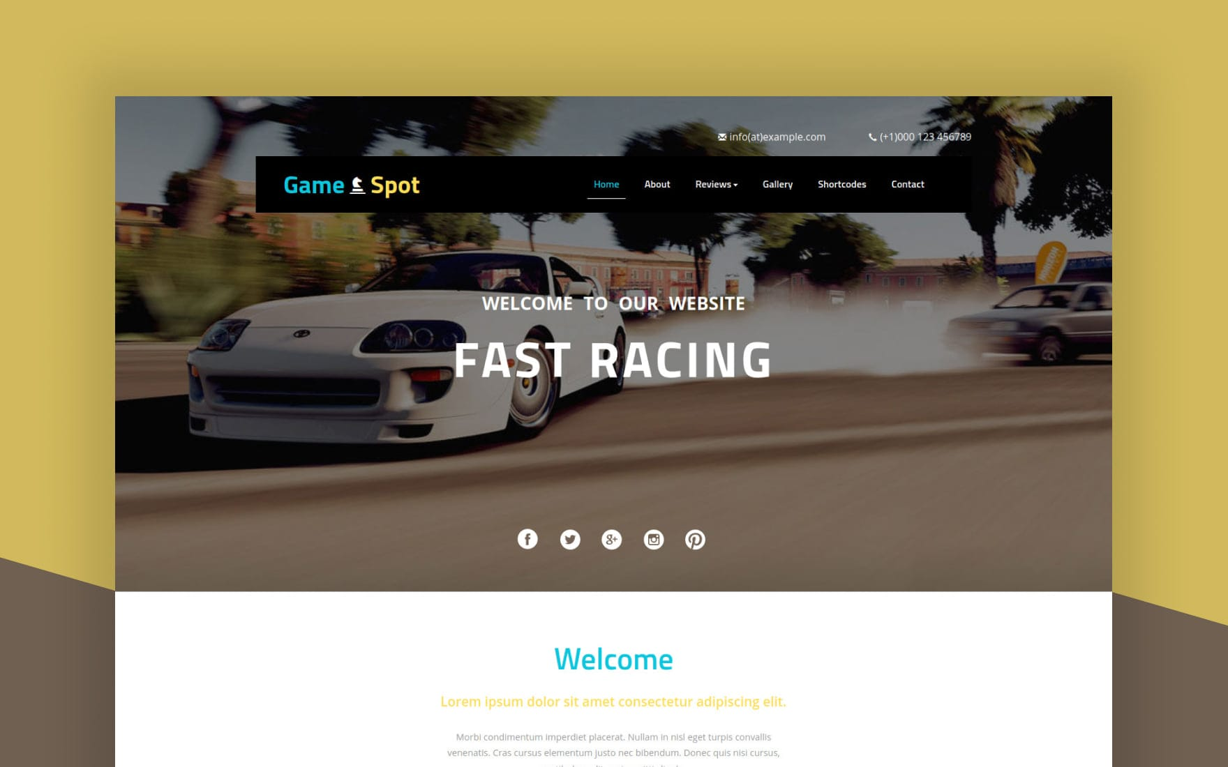 Game Spot a Games Category Flat Bootstrap Responsive Web Template