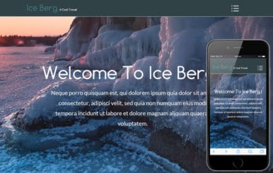 Ice Berg a Video Background Travel Guide Flat Bootstrap Responsive web template