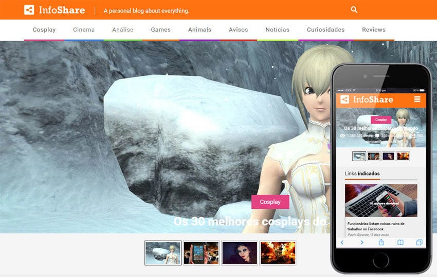 Info Share a Entertainment Category Flat Responsive Web Template