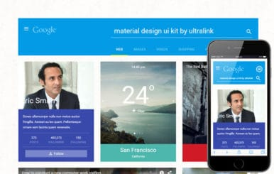 Material UI Kit a Flat Bootstrap Responsive Web Template