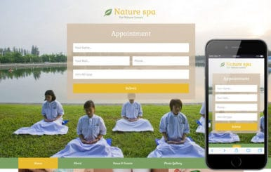 Nature Spa a Spa Category Flat Bootstrap Responsive Web Template