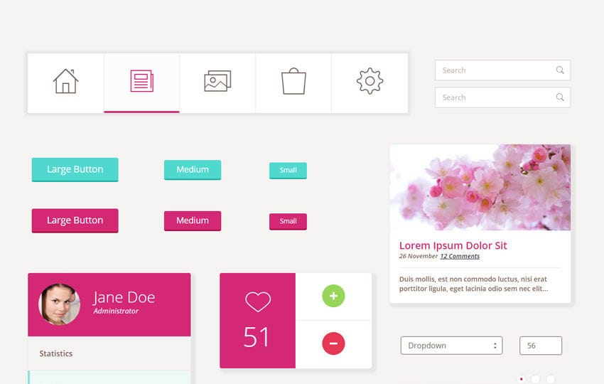 Pretty UI Kit a Flat Bootstrap Responsive Web Template